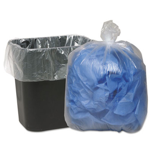 Classic Clear Clear Low-Density Can Liners, 16gal, .6mil, 24 x 33, Clear, 500/Carton (WBI243115C)
