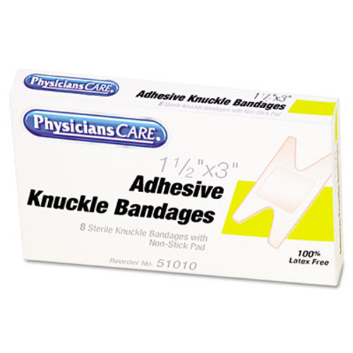 PhysiciansCare by First Aid Only First Aid Fabric Knuckle Bandages, 8/Box (ACM51010)
