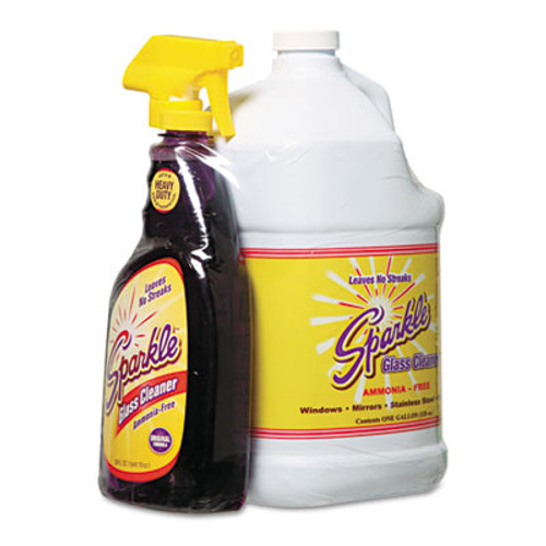 Sparkle Glass Cleaner, One Trigger Bottle & Onegal Refill (FUN20515)