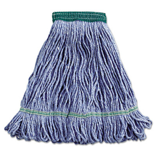 Boardwalk Super Loop Wet Mop Head, Cotton/Synthetic, Medium Size, Blue (BWK502BLEA)