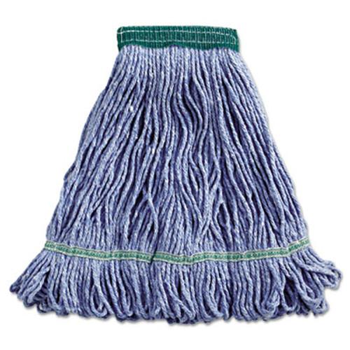 Boardwalk Super Loop Wet Mop Head, Cotton/Synthetic, Medium Size, Blue (BWK502BLEA)