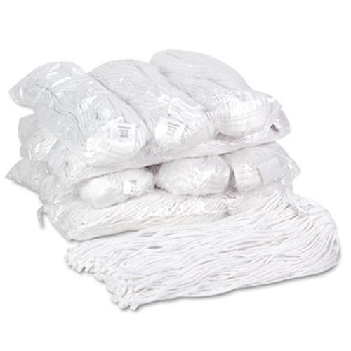 Boardwalk Premium Cut-End Wet Mop Heads, Rayon, 20oz, White, 12/Carton (BWK220RCT)