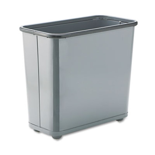 Rubbermaid Fire-Safe Wastebasket, Rectangular, Steel, 7.5gal, Gray (RCPWB30RGY)
