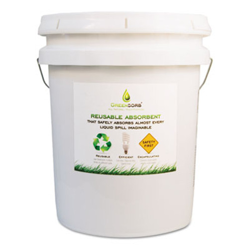 GreenSorb Eco-Friendly Sorbent, Clay, 25 lb Bucket (BCGGS25)