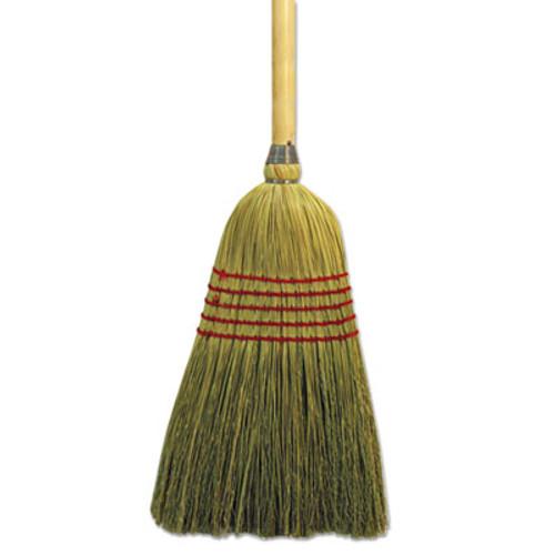 """Boardwalk Parlor Broom, Yucca/Corn Fiber Bristles, 56"""", Wood Handle, Natural (BWK926YEA)"""