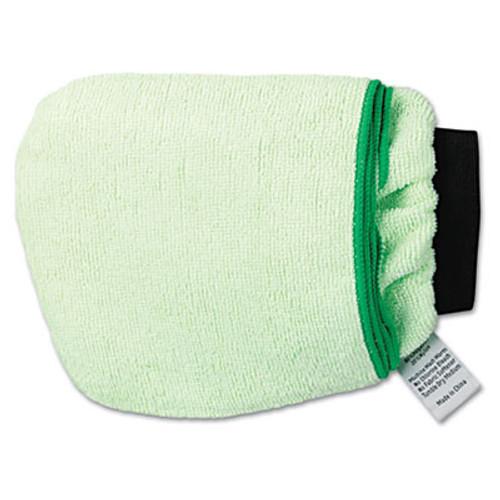 Boardwalk Grip-N-Flip 10 Sided Microfiber Mitt, 7 x 6, Green (BWKMICROMITTGRE)
