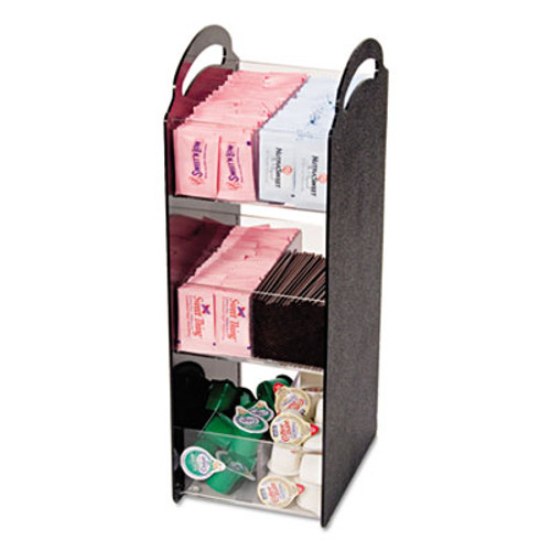 Vertiflex Compact Condiment Organizer, 6 1/8w x 8d x 18h, Black (VRTVFCT18)