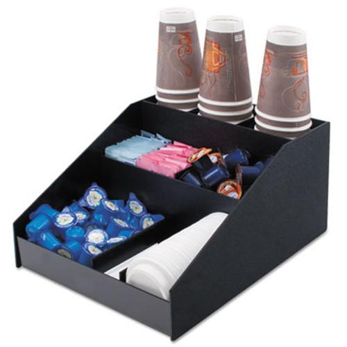 Vertiflex Commercial Grade Horizontal Condiment Organizer, 12w x 16d x 7 1/2h, Black (VRTVFCC1200)