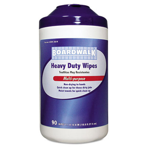 Boardwalk Heavy-Duty Wipes, 10 4/5 x 7, Fresh Scent, 90/Canister, 6 Canisters/Carton (BWK356W)