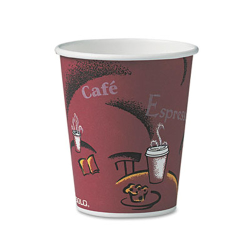 Dart Bistro Design Hot Drink Cups, Paper, 10oz, 50/Pack (SCC370SIPK)