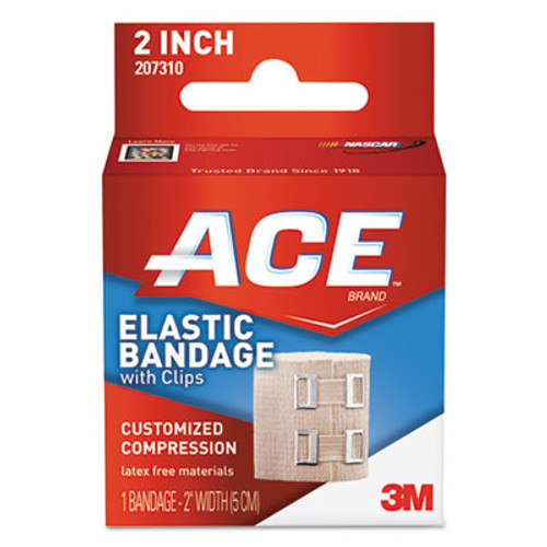 """ACE Elastic Bandage with E-Z Clips, 2"""" x 50"""" (MMM207310)"""