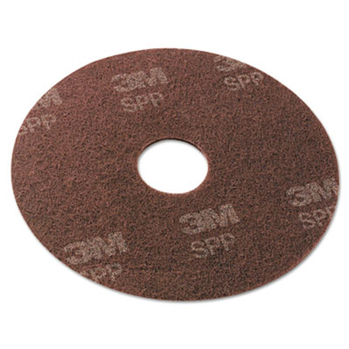 "Scotch-Brite Surface Preparation Pad, 13"" Diameter, Maroon, 10/Carton (MMMSPP13)"