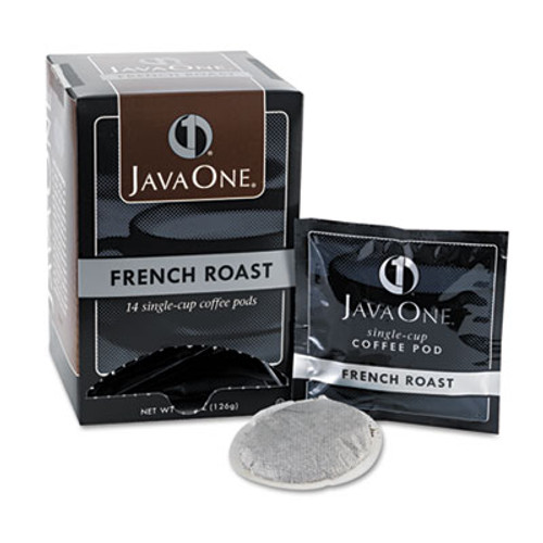Java One Coffee Pods, French Roast, Single Cup, 14/Box (JAV30800)