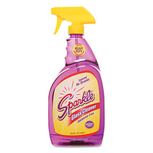 Sparkle Glass Cleaner, 33.8oz Spray Bottle, 12/Carton (FUN20345CT)
