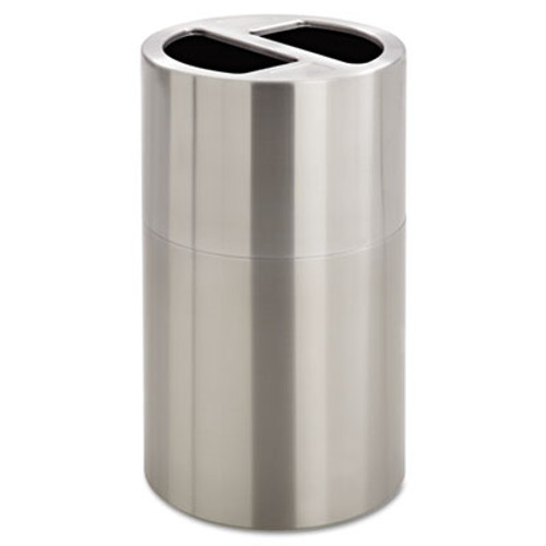 Safco Dual Recycling Receptacle, 30gal, Stainless Steel (SAF9931SS)