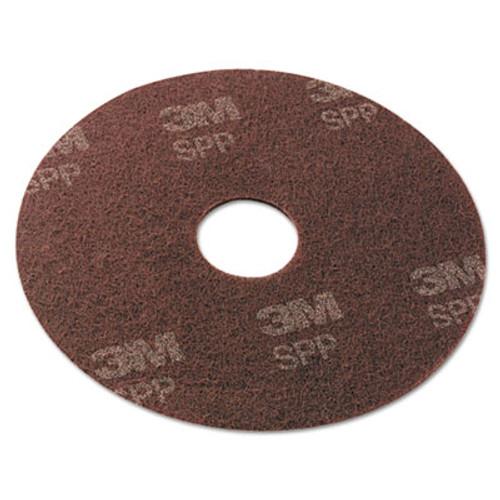 "Scotch-Brite Surface Preparation Pad, 17"" Diameter, Maroon, 10/Carton (MMMSPP17)"