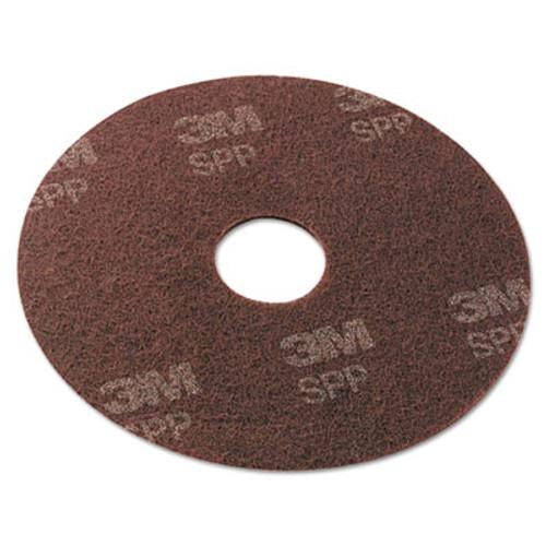 "Scotch-Brite Surface Preparation Pad, 19"" Diameter, Maroon, 10/Carton (MMMSPP19)"