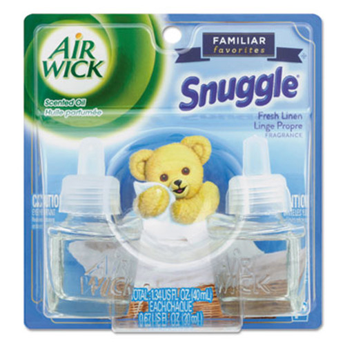 Air Wick Scented Oil Twin Refill, Snuggle Fresh Linen, 0.67 oz 2/Pack, 6/Carton (RAC82291)