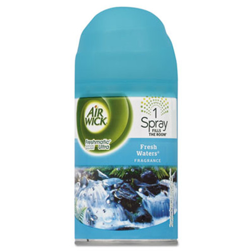 Air Wick Freshmatic Ultra Automatic Spray Refill, Fresh Waters, Aerosol 6.17 oz, 6/Carton (RAC79553)