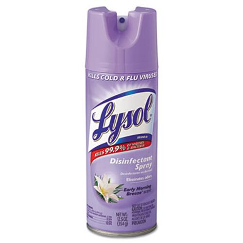 LYSOL Disinfectant Spray, Early Morning Breeze, 12.5oz Aerosol, 12/Carton (RAC80833)