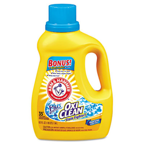 Arm & Hammer OxiClean Concentrated Liquid Laundry Detergent, Fresh, 61.25oz Bottle, 6/Carton (CDC3320000107)