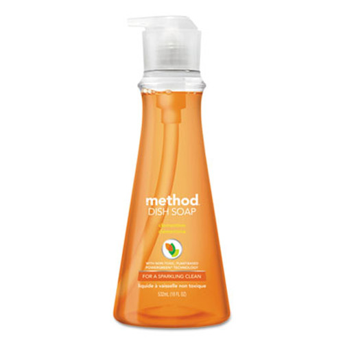 Method Dish Soap, Clementine, 18 oz Pump Bottle (MTH00735)