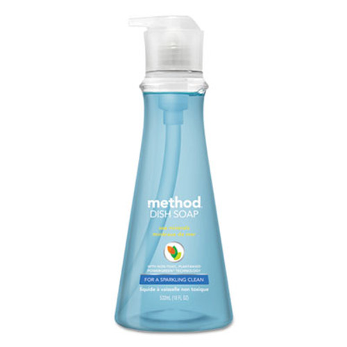 Method Dish Soap, Sea Minerals, 18 oz Pump Bottle (MTH00734)