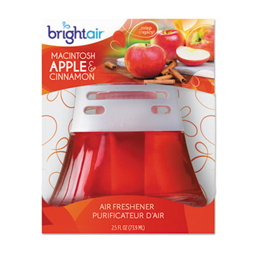 BRIGHT Air Scented Oil Air Freshener, Macintosh Apple and Cinnamon, Red, 2.5oz (BRI900022)