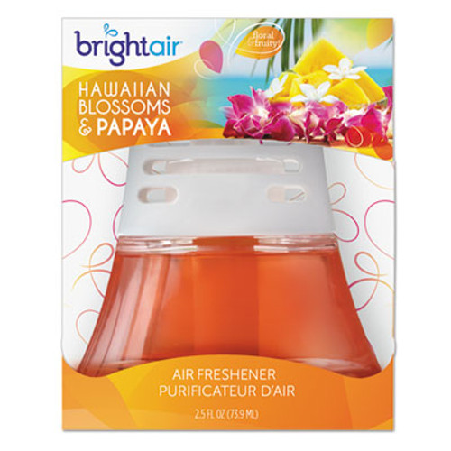 BRIGHT Air Scented Oil Air Freshener, Hawaiian Blossoms and Papaya, Orange, 2.5oz (BRI900021)