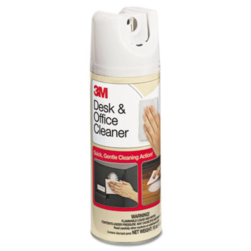 3M Desk & Office Spray Cleaner, 15oz Aerosol, 12/Carton (MMM573CT)