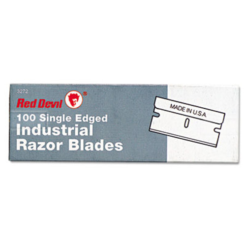 Red Devil Single Edge Scraper Razor Blades, 100 Box (RDL3272)