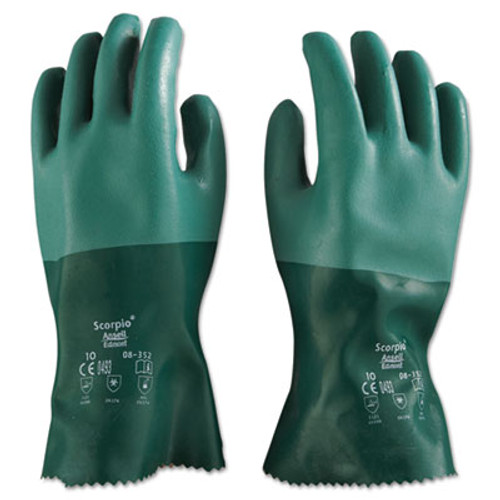 AnsellPro Scorpio Neoprene Gloves, Green, Size 10, 12 Pairs (ANS835210)