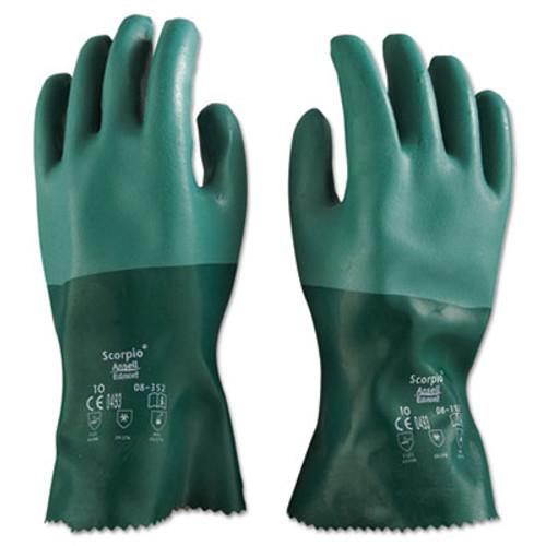 AnsellPro Scorpio Neoprene Gloves, Green, Size 10, 12 Pairs (ANS835210)