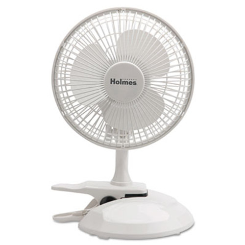 """Holmes 6"""" Convertible Clip/Desk Fan, 2 Speed, White (HLSHCF0611AWM)"""