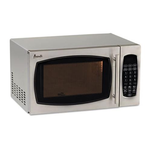 Avanti 0.9 Cubic Foot Capacity Stainless Steel Microwave Oven, 900 Watts (AVAMO9003SST)