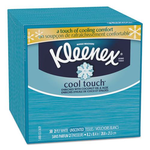 Kleenex Cool Touch Facial Tissue, 2-Ply, 50 Sheets/Box (KCC29388BX)