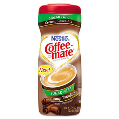 Coffee-mate Sugar Free Creamy Chocolate Flavor Powdered Creamer, 10.2 oz (NES59573)