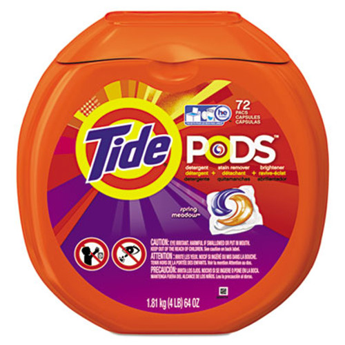 Tide Detergent Pods, Spring Meadow Scent, 72 Pods/Pack (PGC50978)