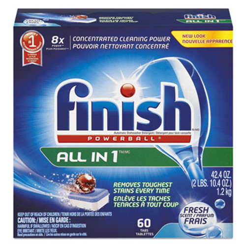 FINISH Powerball Dishwasher Tabs, Fresh Scent, 54/Box (RAC81158BX)