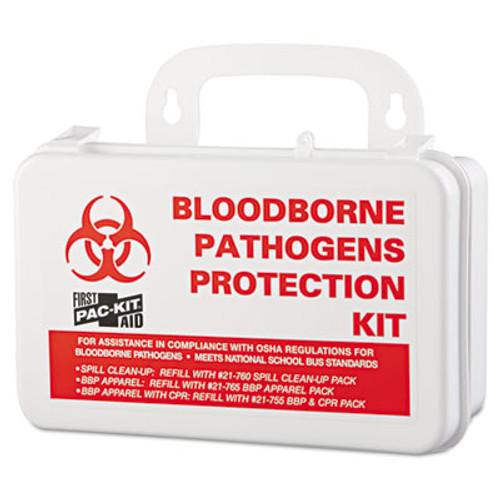 """Pac-Kit Small Industrial Bloodborne Pathogen Kit, Plastic Case, 4.5""""H x 7.5""""W x 2.75""""D (PKT3060)"""