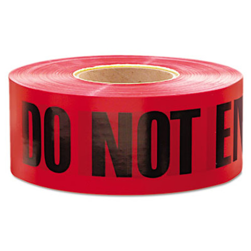 """Empire 1,000 ft. x 3 in. """"Danger Do Not Enter"""" Barricade Tape (Red) (EML11081)"""