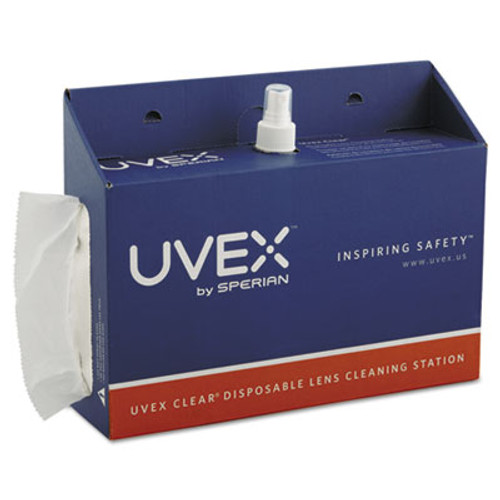 Honeywell Uvex Portable Lens Cleaning Station, 1500 Tissues and 16oz Bottle of Solution (UVXS467)