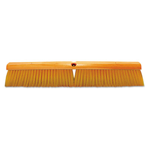 Magnolia Brush No. 19 Floor Brush, w/M60 Handle, Plastic Fill, Yellow, 24w x 60h (MNL1924)