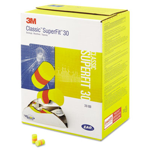 3M E-A-R Classic SuperFit 33 Foam Earplug, Uncorded, Pillow Pack (MMM3101009)