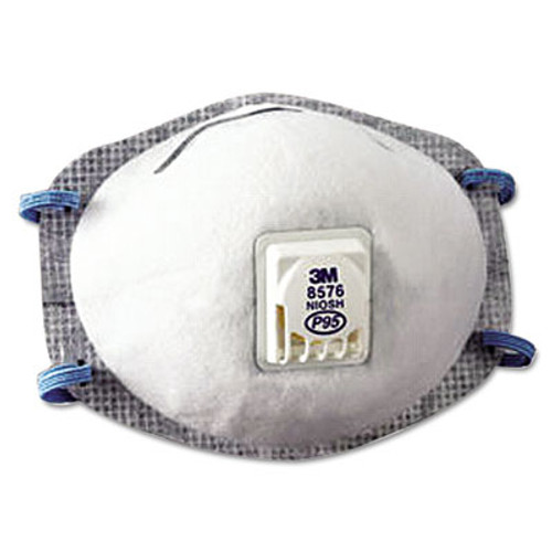 3M N95 Particulate Respirator, Half Facepiece, Oil Resistant, Fixed Strap (MMM8576)