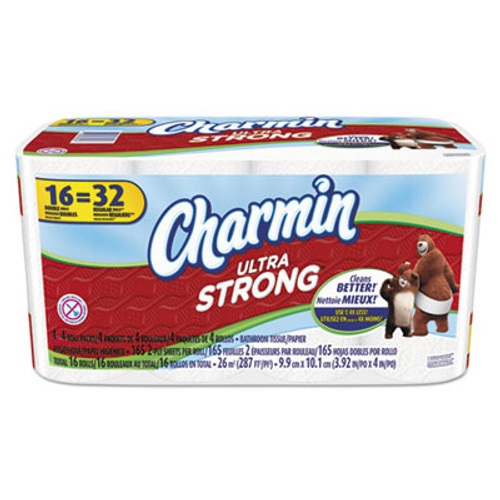 Charmin Ultra Strong Bathroom Tissue, 2-Ply, 154 Sheets/Roll, 16 Rolls/Carton (PGC92271)