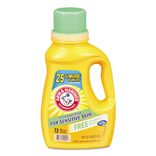 Arm & Hammer HE Compatible Liquid Detergent, Unscented, 50 oz Bottle (CDC3320000103EA)