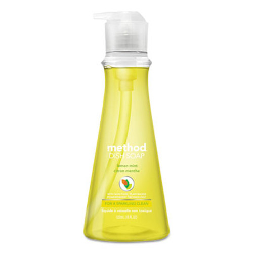 Method Dish Soap, Lemon Mint, 18 oz Pump Bottle (MTH01179)
