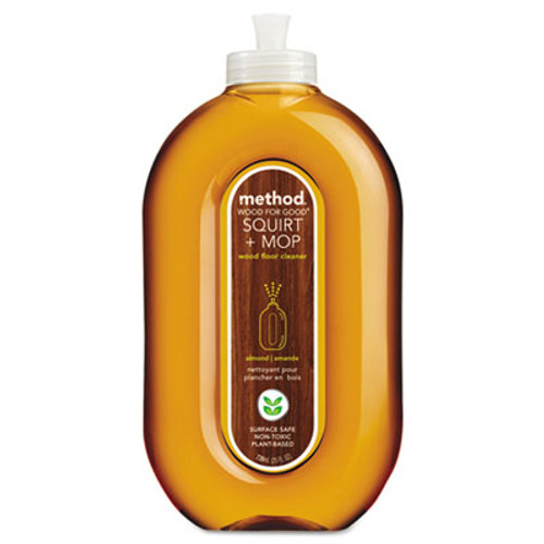 Method Squirt + Mop Wood Floor Cleaner, Almond Scent, 25 oz Squirt Bottle (MTH00562)