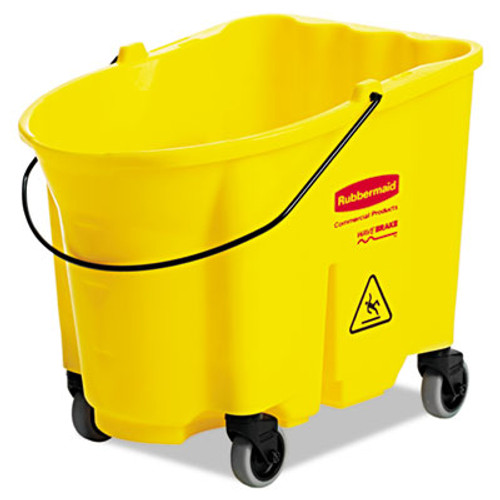 Rubbermaid WaveBrake Bucket, 26qt, Yellow (RCP7470YEL)